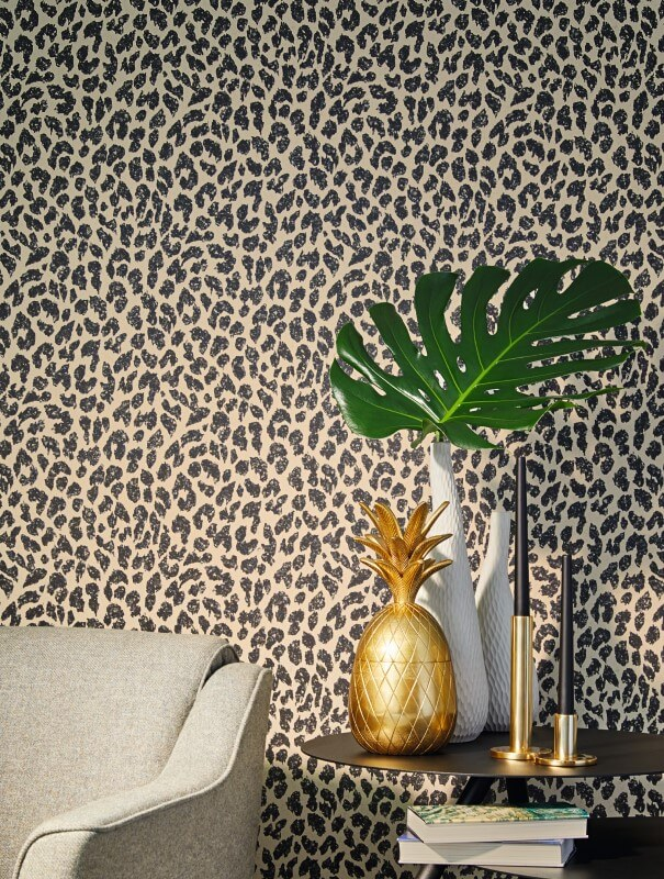 Papel Pintado Exotico Leopardo