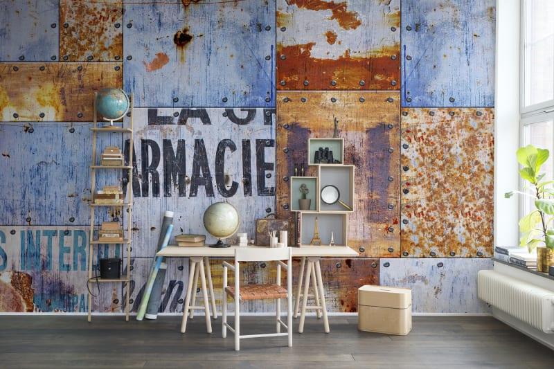 Papel Pintado Interiorismo Industrial